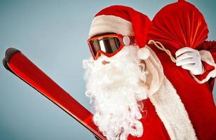 kerstman met ski