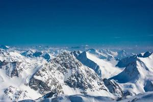 skigebied van Neustift Stubaier gletsjer Oostenrijk