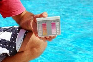 zwembad tester foto