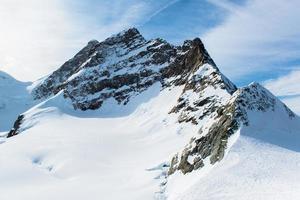 alpine alpen berglandschap op jungfraujoch, top van europa zwitserland foto