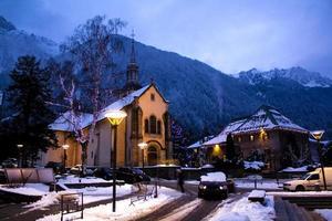 Chamonix stad foto