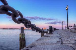 boston harbour zonsondergang