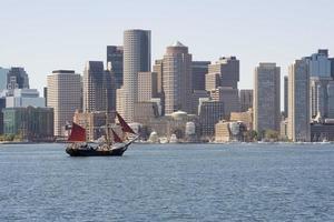 clipper schip in de haven van Boston foto