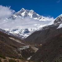 uitzicht op de lhotse