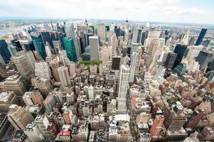 kleurrijk panorama van New York foto