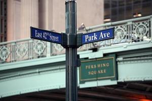 42e straat en park av foto