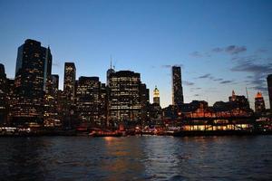 financiële wijk 's nachts foto