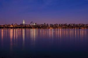 de weerspiegeling van New York foto
