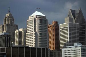 motor skyline van de stad foto