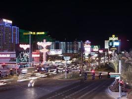 hotels in een stad, Las Vegas, Nevada, VS. foto