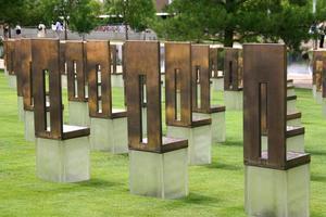 herdenkingsmonument voor oklahoma foto