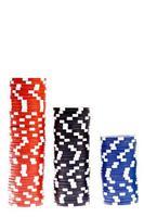 casino kleurrijke pokerchips foto