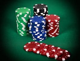 kleur pokerchip foto