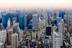 skyline van het centrum van New York, New York, Verenigde Staten foto