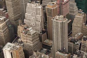 neerkijkend op Manhattan foto