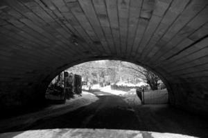 brug in Central Park, Manhattan, New York foto