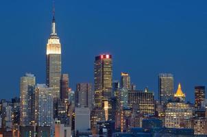 skyline van Manhattan foto