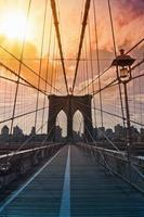 brooklyn bridge, new york, Verenigde Staten foto