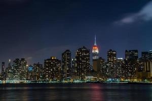 New York City Manhattan 's nachts foto