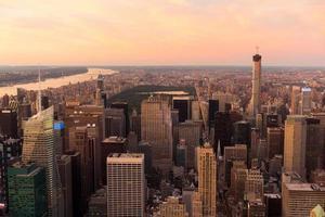 uitzicht op Central Park in New York foto