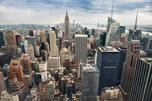 New York City manhattant panorama van de binnenstad foto