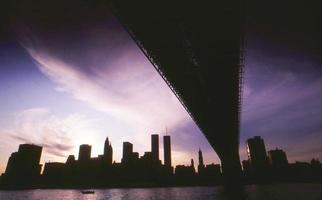 ny skyline tijdens black-out foto