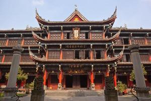 wenshu klooster in Chengdu foto