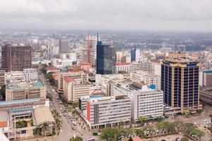 zicht op de centrale zakenwijk van nairobi foto