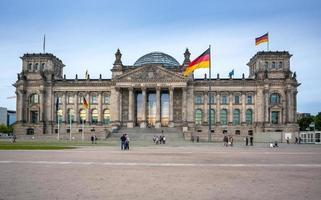 het Rijksdaggebouw in Berlijn: het Duitse parlement foto