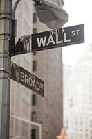 Wall Street in de stad van New York foto