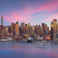 New York City met wolkenkrabbers foto