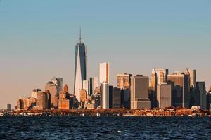 uitzicht op de skyline van manhattan in nyc foto