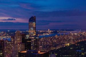 's nachts Manhattan foto