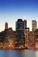 manhattan wolkenkrabbers in new york city foto