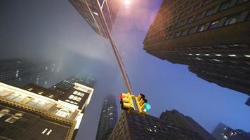 regenachtige wolkenkrabbers foto