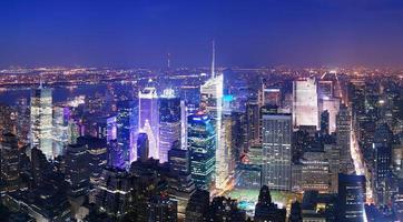 Luchtfoto van de skyline van New York City Manhattan Times Square foto