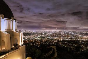 la stadsgezicht en observatorium foto