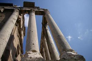 Romeinse forumkolommen foto