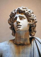 gebeeldhouwd hoofd, rome foto