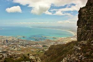 uitzicht op de baai van Kaapstad foto