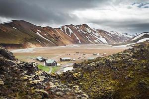 landmannalaugar camping, ijsland foto
