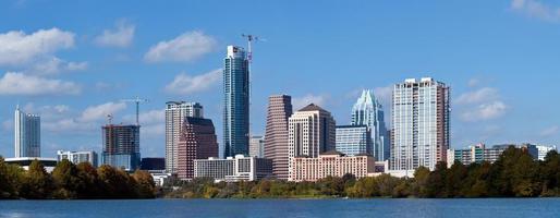 Austin, de skyline van Texas foto