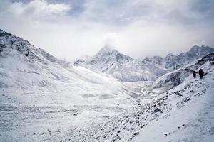 sagarmatha nationaal park, nepal himalaya foto