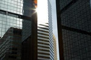 flare van de binnenstad foto