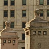 chicago-wrigley gebouw, architectuur, grosplan foto
