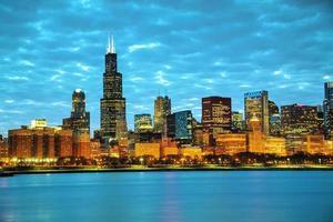 Chicago Cityscape van de binnenstad foto