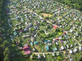 woonwijk in vogelvlucht foto