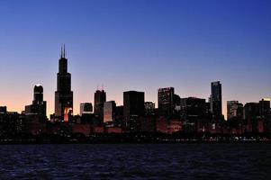 chicago silhouet foto