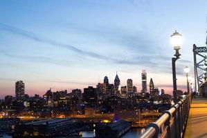 uitzicht op het centrum van Philadelphia foto
