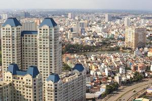 ho chi minh panorama van de stad, saigon vietnam